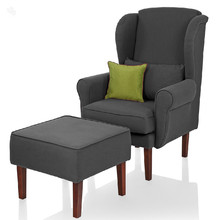 Forzza Winged Armchair and Footstool - Macy