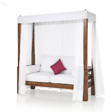 Daybed with White Canopy Solid Wood - Georgian