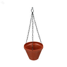 Planter Hanging Conical with Metal Chain Brown