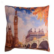 Polycotton Digital Print Cushion Cover - London