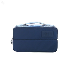 Travel Underwear Organizer Bag Divided - Navy Blue