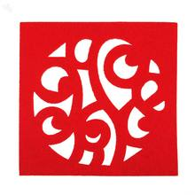 Coasters Abstract Patterned 4-piece set - Red