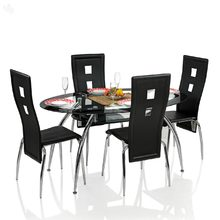 Royal Oak Dining Table Set with 4 Chairs - Oval