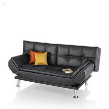Royal Oak Sofa Cum Bed with Black Upholstery