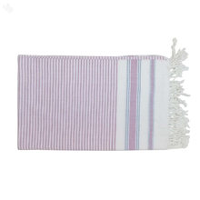 Single Fouta Towel - Lavender & White